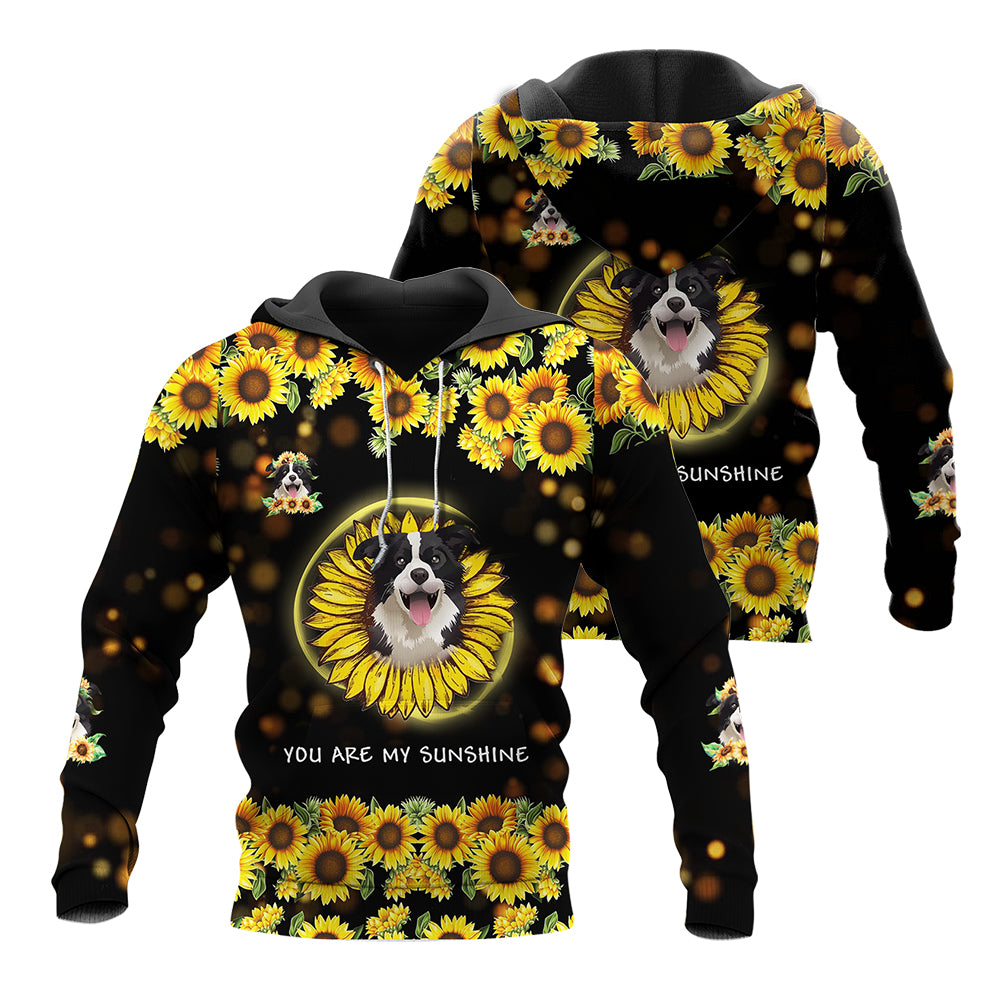 Sun Flower Border Collie 3D All Over Printed Shirts For Men And Women 03
