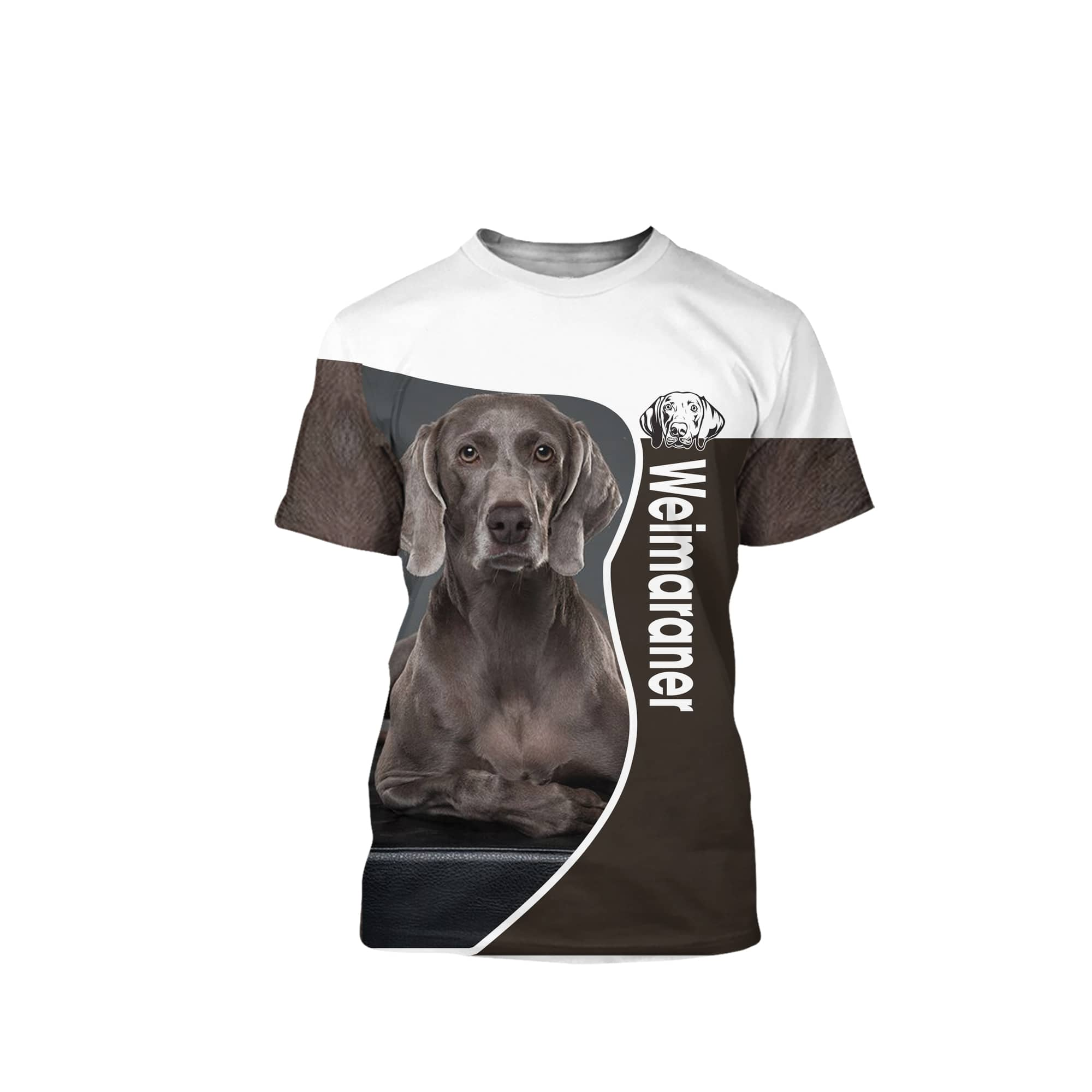 Weimaraner 3D All Over Printed Shirts For Men And Women 14