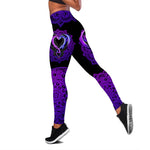 Load image into Gallery viewer, Dragon Purple One Off Shoulder Long Sleeve Shirt & Legging 01