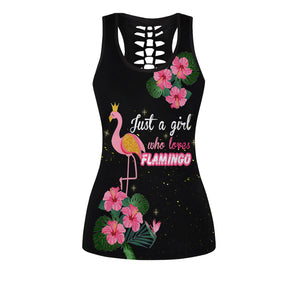 Flamingo Girl Women Tank Top & Legging Set 01