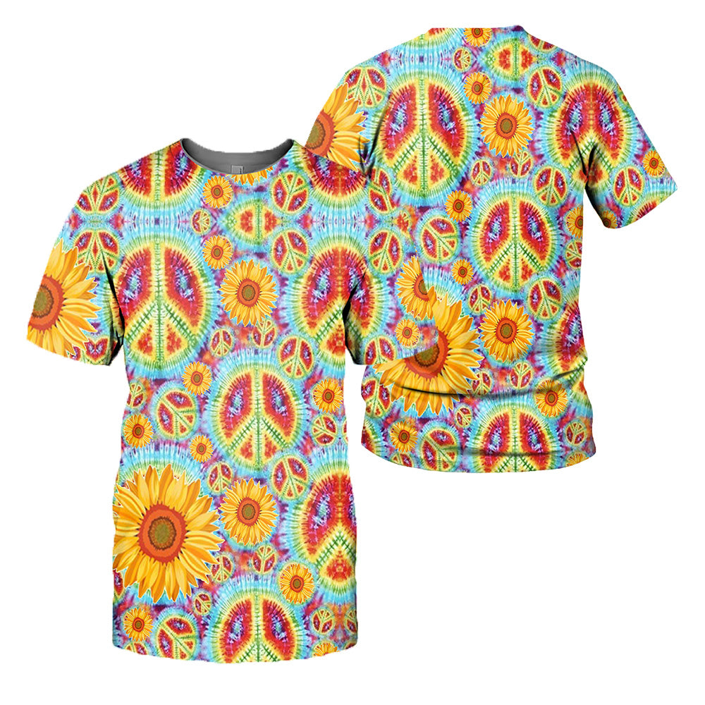Hippie Style 3D All Over Printed Shirts For Men And Women 11