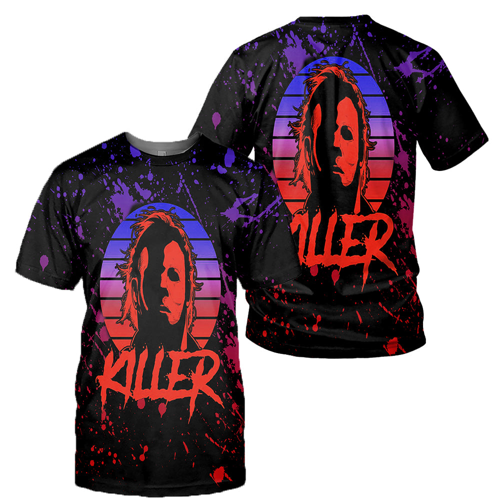 Michael Myers 3D All Over Printed Shirts For Men and Women 06