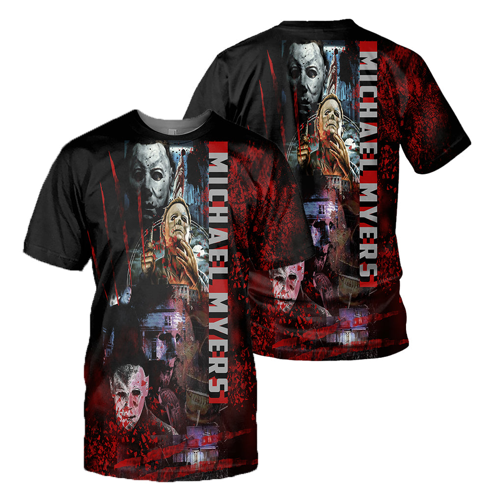 Michael Myers 3D All Over Printed Shirts For Men and Women 25