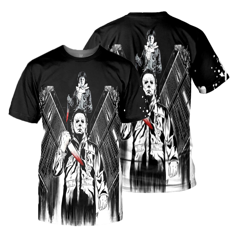 Michael Myers 3D All Over Printed Shirts For Men and Women 28
