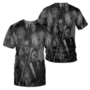 Horror Movies 3D All Over Printed Shirts For Men and Women 137