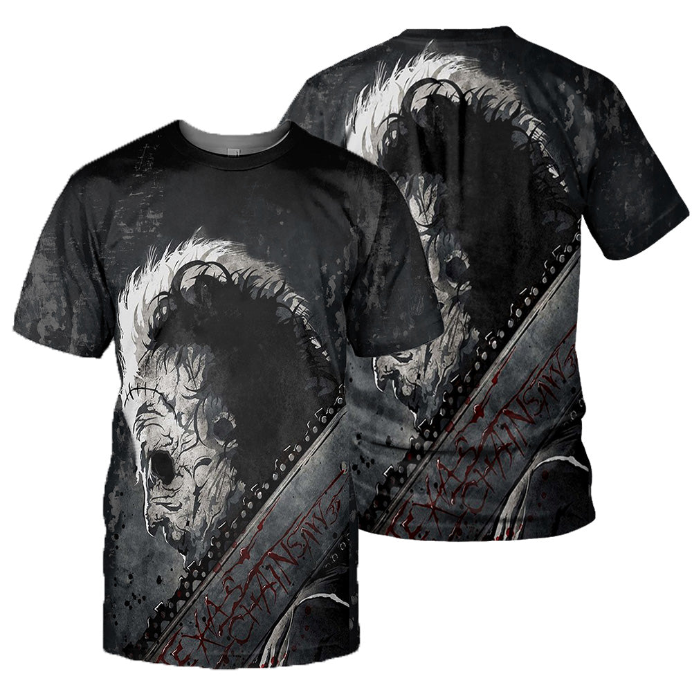 Leatherface 3D All Over Printed Shirts For Men and Women 156