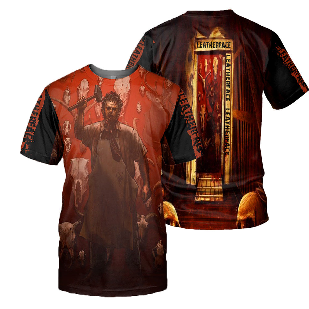 Leatherface 3D All Over Printed Shirts For Men and Women 169