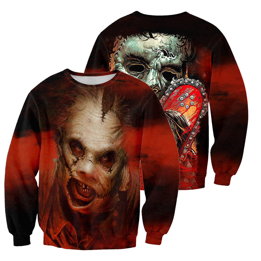 Leatherface 3D All Over Printed Shirts For Men and Women 170