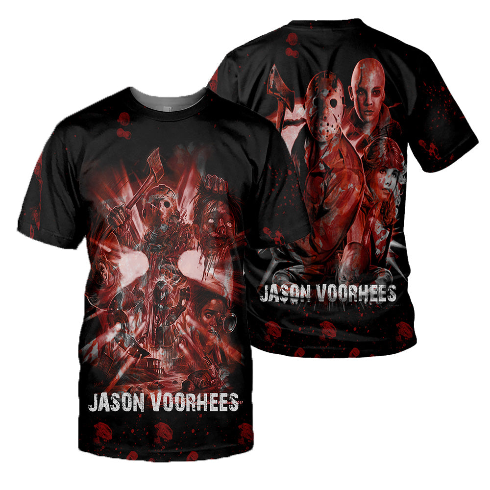 Jason Voorhees 3D All Over Printed Shirts For Men and Women 172