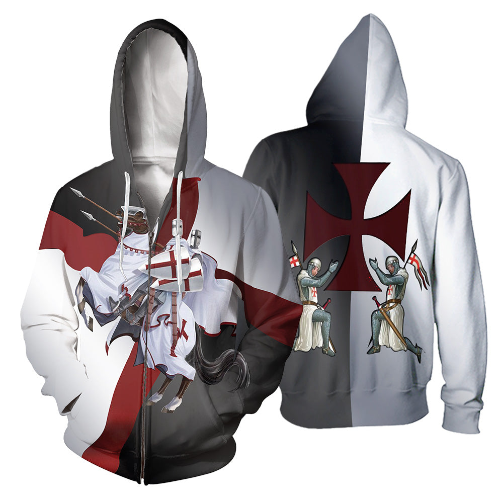 Knights Templar 3D All Over Printed Shirts For Men And Women 01
