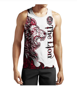 Red Lion Tattoo 3D All Over Printed Shirts For Men And Women 10