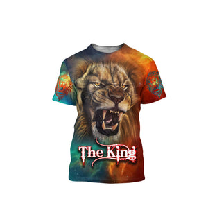 Lion 3D All Over Printed Shirts For Men And Women 11