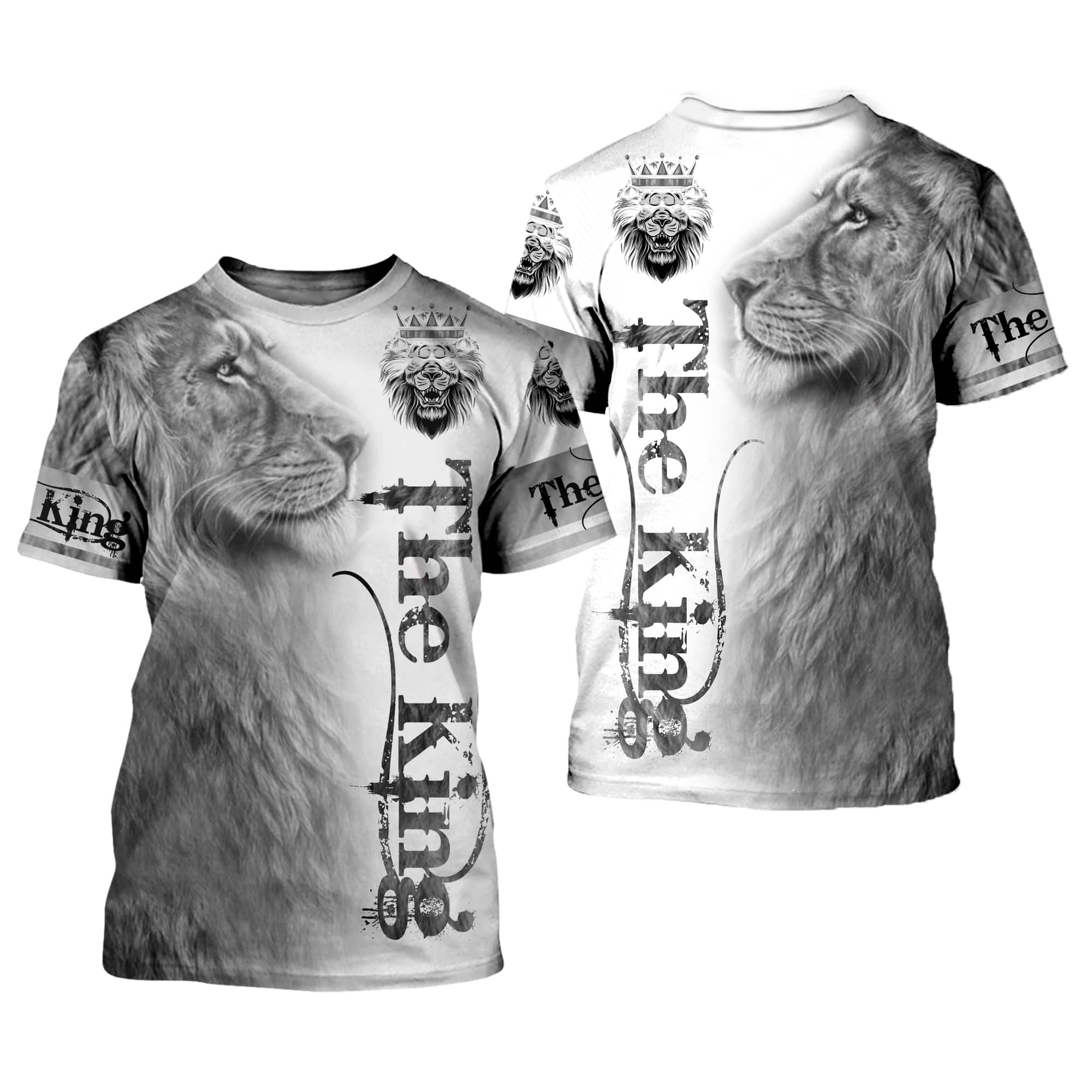Lion 3D All Over Printed Shirts For Men And Women 01