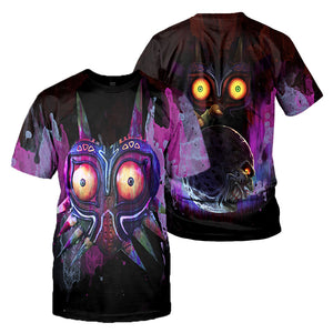 Majora's Mask 3D All Over Printed Shirts For Men and Women 01