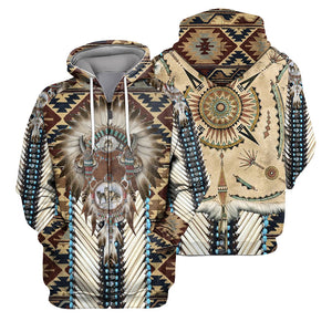 Native Pattern 3D All Over Printed Shirts For Men And Women 09