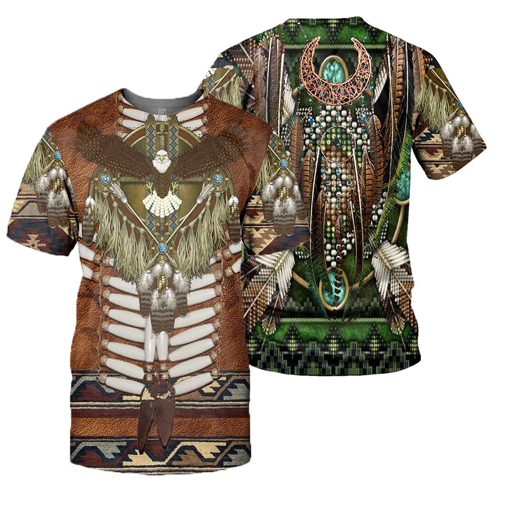 Native Pattern 3D All Over Printed Shirts For Men And Women 12