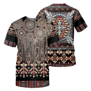 Native Pattern 3D All Over Printed Shirts For Men And Women 17