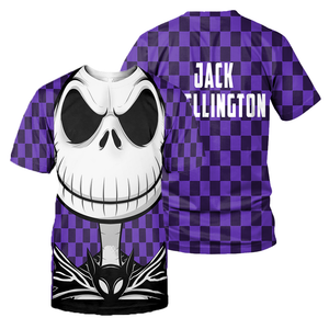 Jack Skellington and Sally 3D All Over Printed Shirts For Men And Women