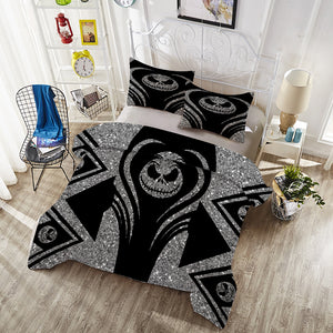 Bedding Set -  Silver Jack Skellington