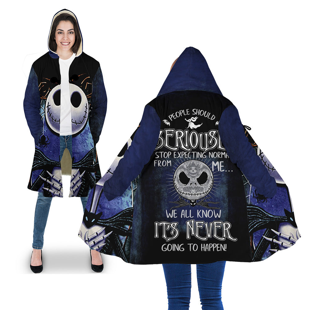 "Jack Skellington 3D All Over Printed Shirts For Men And Women - ""People Should Seriously, Stop Expecting Normal From Me, We All Know It's Never Going To Happen!"