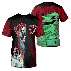 Jack Skellington 3D All Over Printed Shirts For Men And Women 288