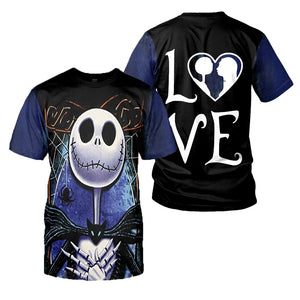 Jack Skellington 3D All Over Printed Shirts For Men And Women 296