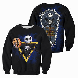Jack Skellington 3D All Over Printed Shirts For Men And Women 347