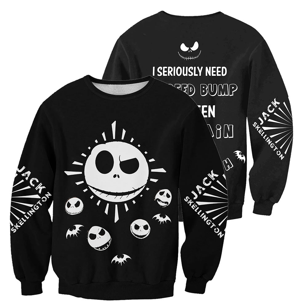 Jack Skellington 3D All Over Printed Shirts For Men And Women 373