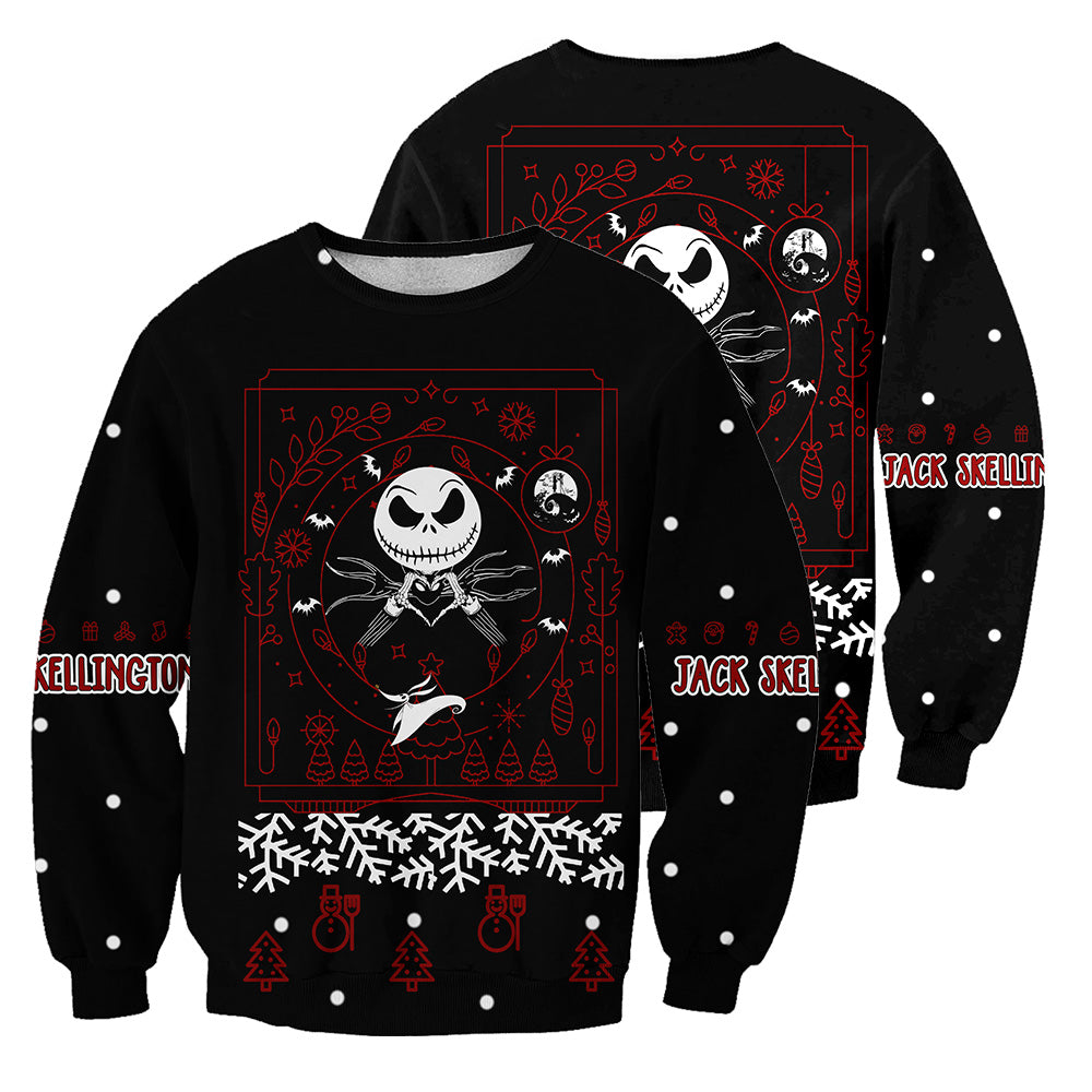 Jack Skellington 3D All Over Printed Shirts For Men And Women 376