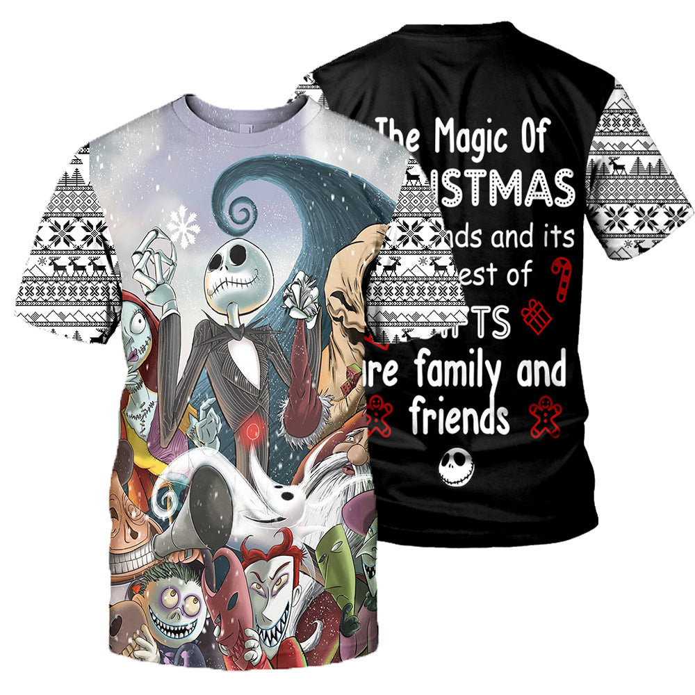 Jack Skellington 3D All Over Printed Shirts For Men And Women 400