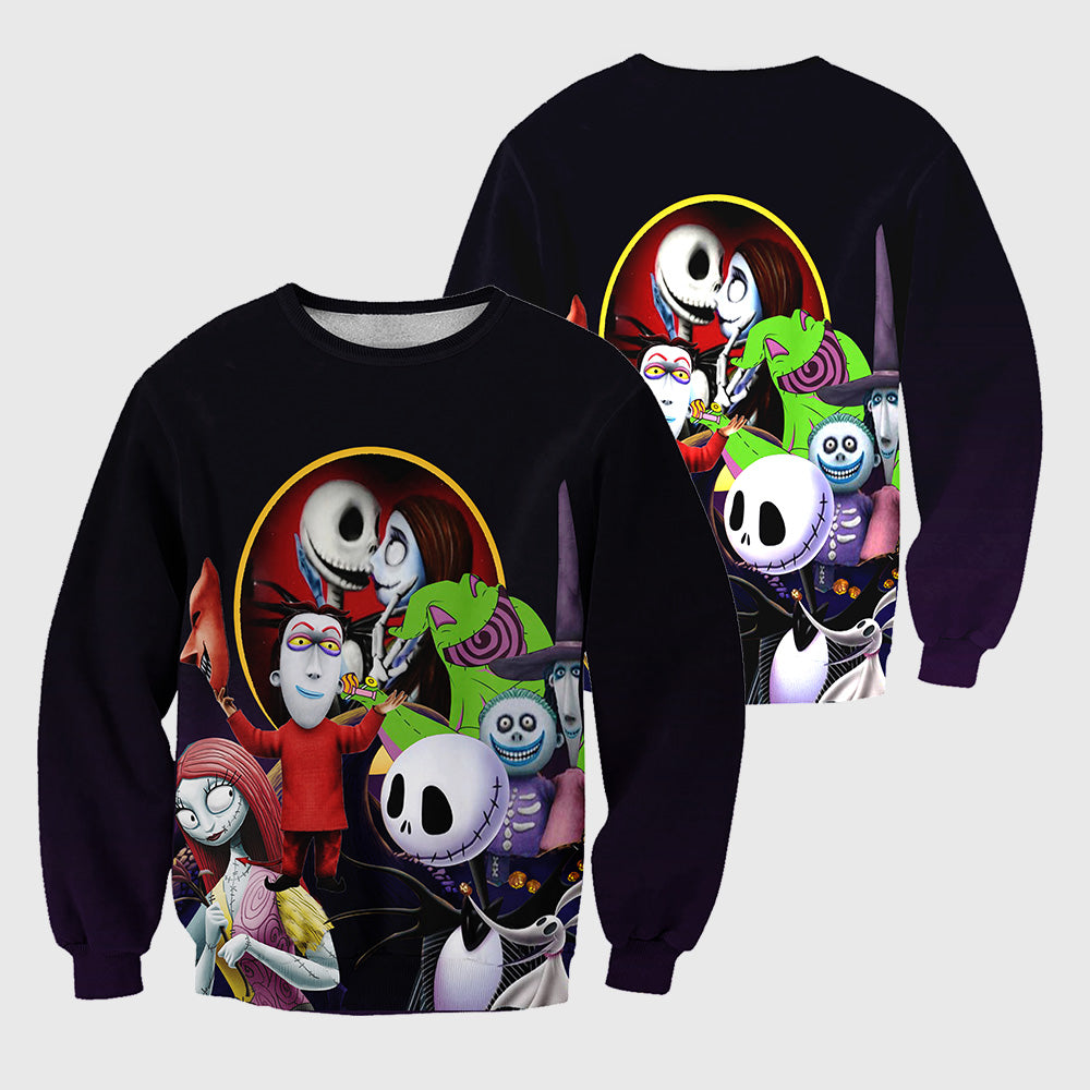 Jack Skellington 3D All Over Printed Shirts For Men And Women 459