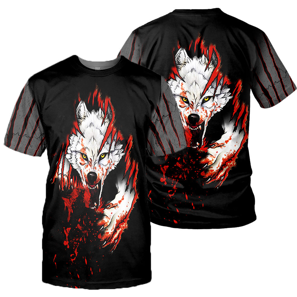Wolf 3D All Over Printed Shirts For Men And Women 01