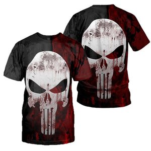 Punisher 3D All Over Printed Shirts For Men And Women 01