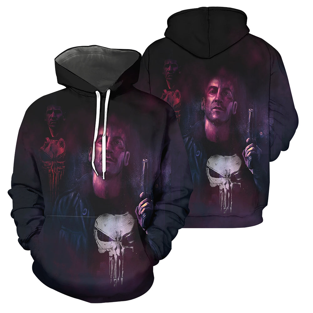 Punisher 3D All Over Printed Shirts For Men And Women 05