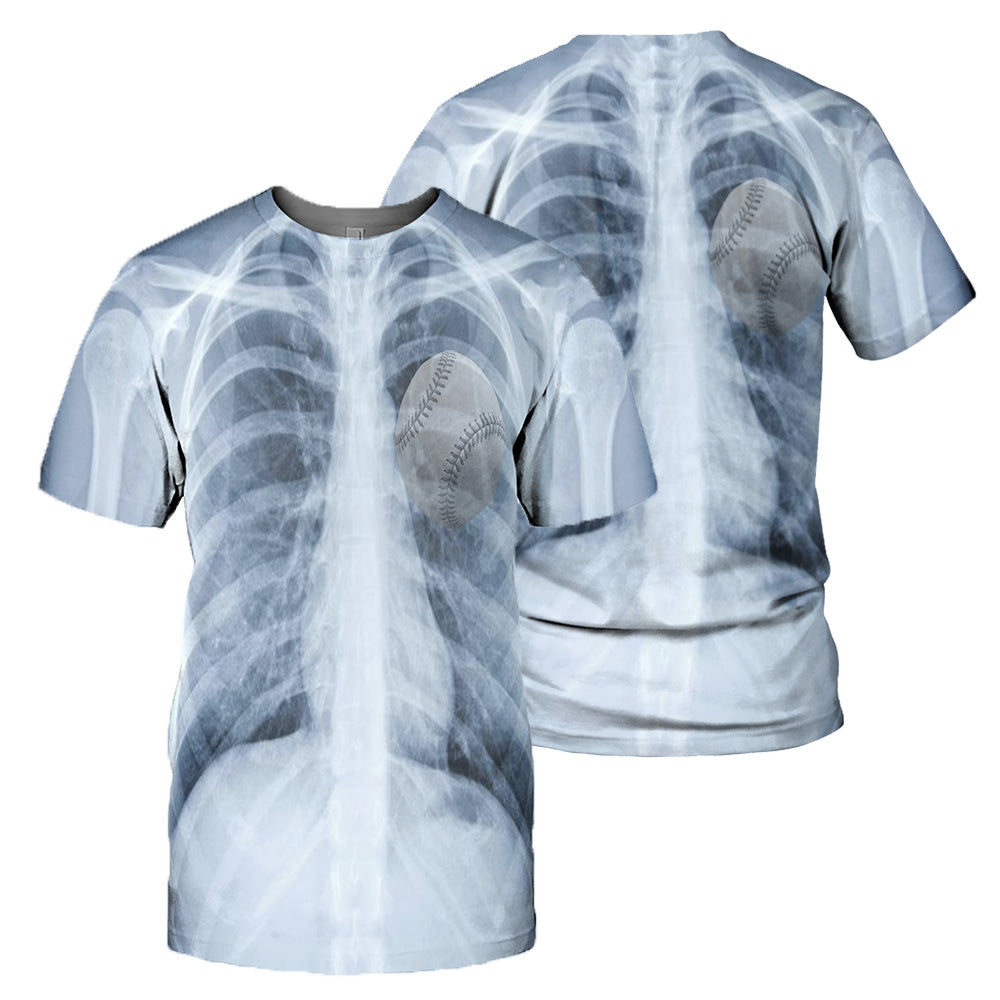 Baseball 3D All Over Printed Shirts For Men And Women 02
