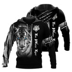 Load image into Gallery viewer, white tiger hoodie