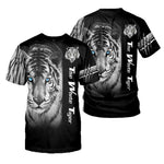 Load image into Gallery viewer, Amazing White Tiger 3D All Over Printed Shirts For Men And Women 02