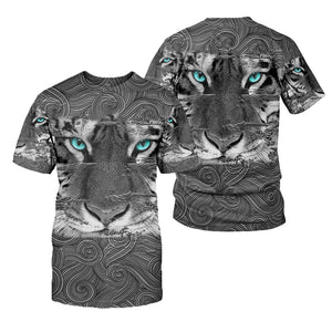 Amazing White Tiger 3D All Over Printed Shirts For Men And Women 03