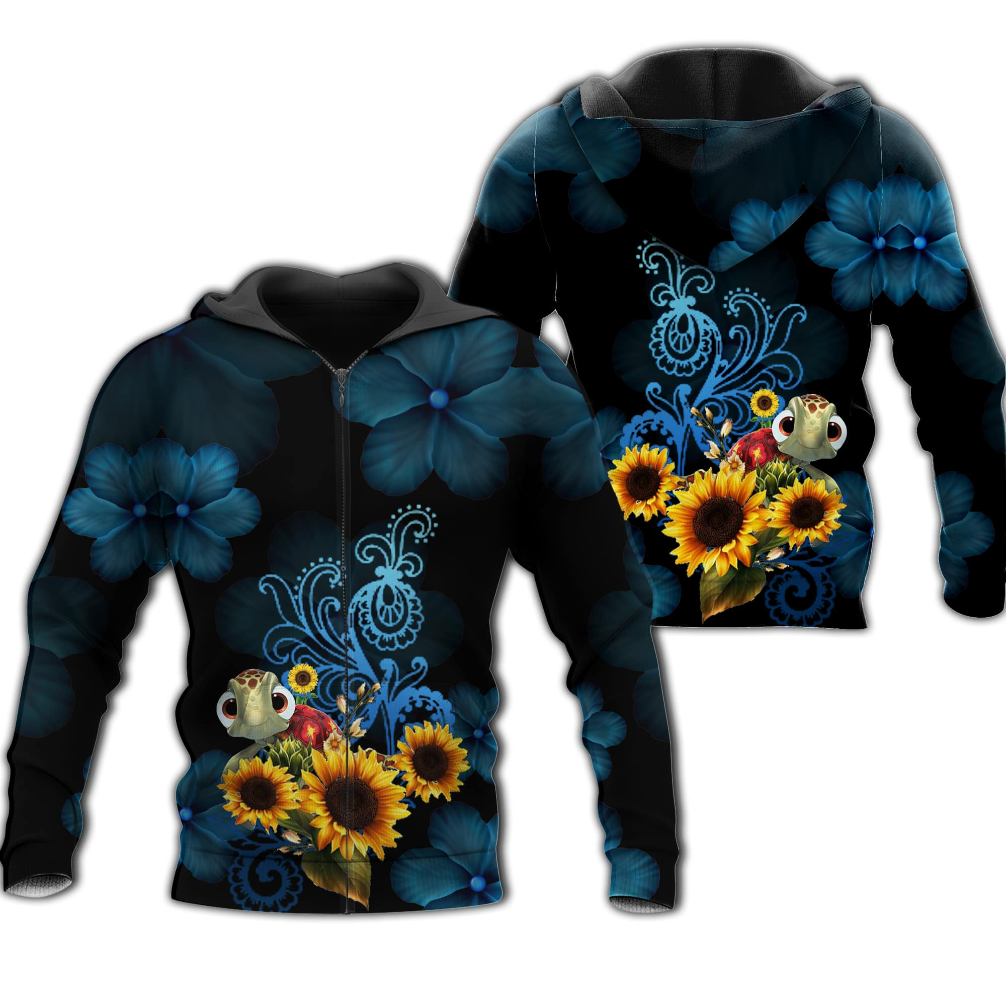 Nemo Sea Turtle 3D All Over Printed Shirts For Men And Women 46