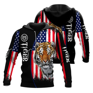 American Flag Tiger 3D All Over Printed Shirts For Men And Women 10