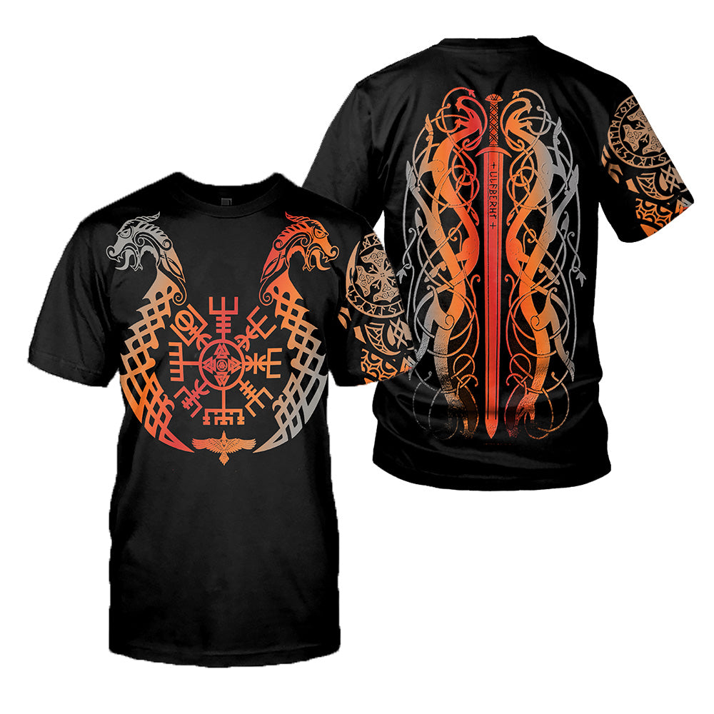Viking Tattoo 3D All Over Printed Shirts For Men And Women 14