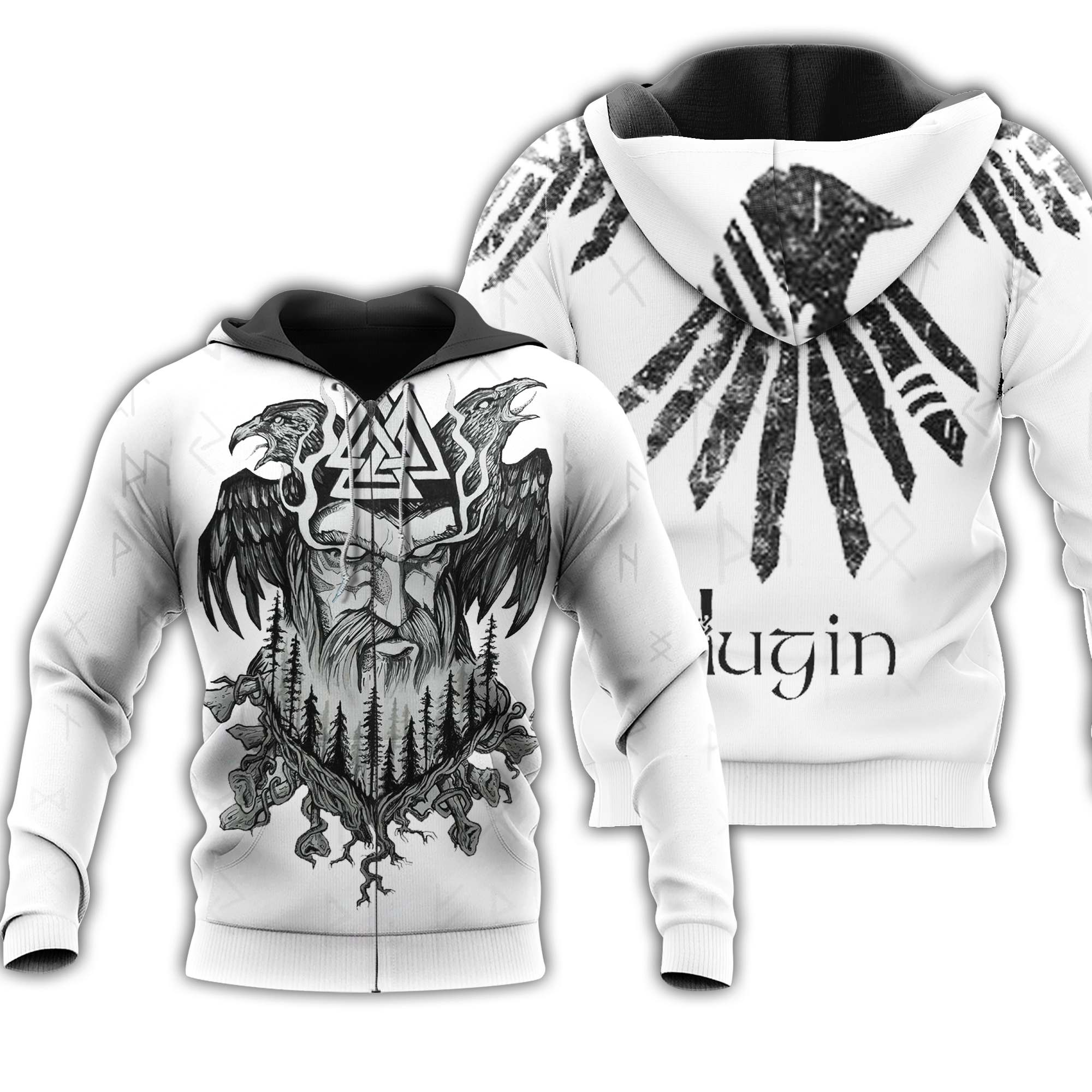 Odin & Hugin 3D All Over Printed Shirts For Men And Women 76