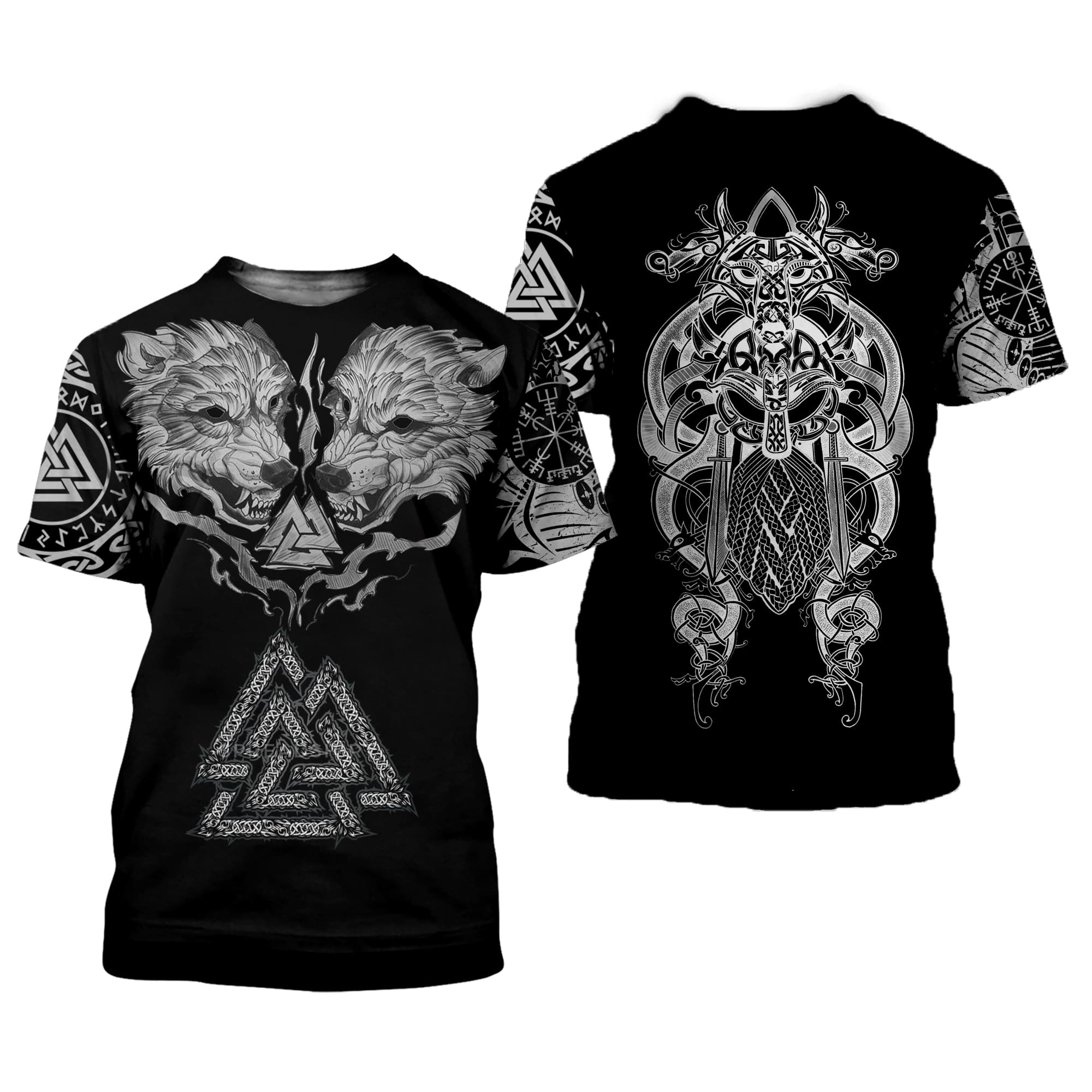 Vikings Tattoo 3D All Over Printed Shirts For Men And Women 112
