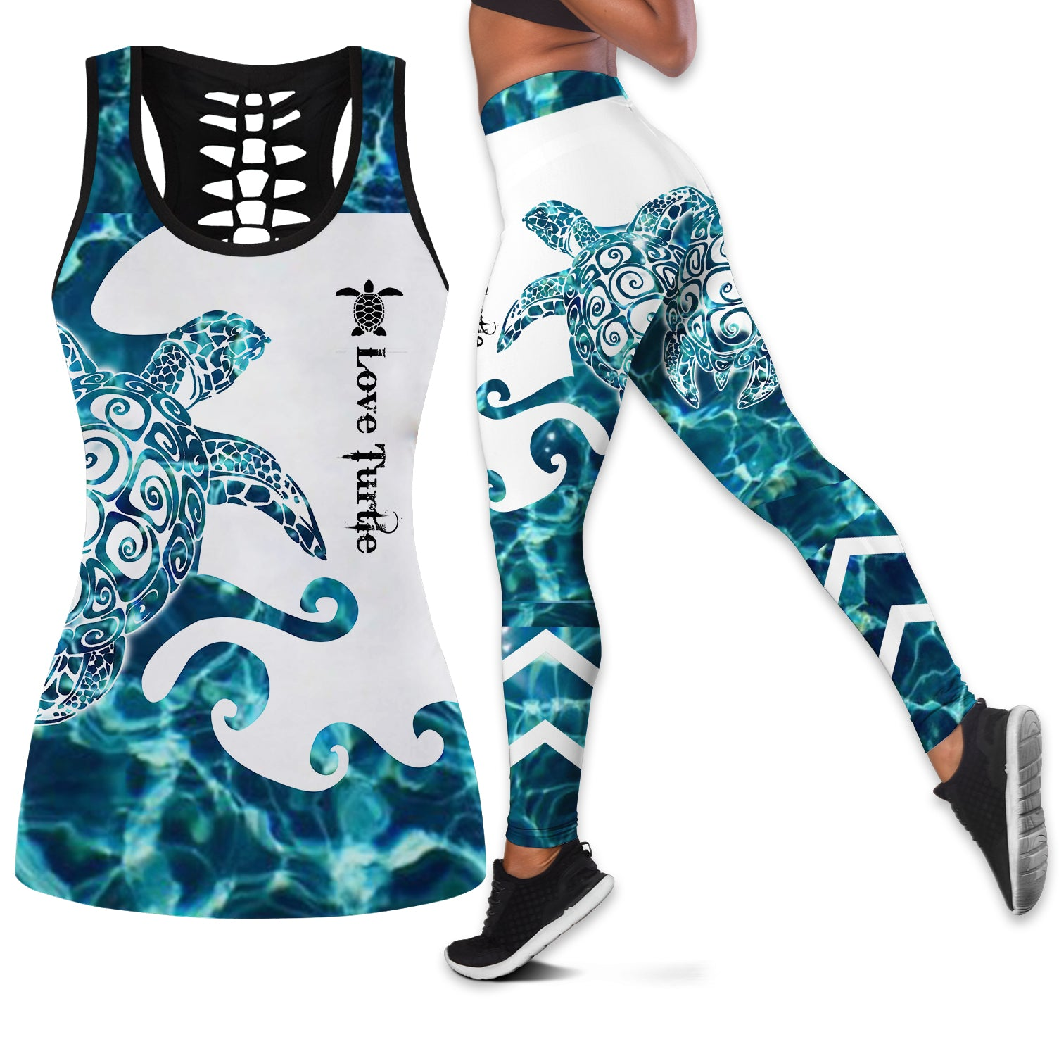 Sea Turtle Women Tank Top & Legging 04