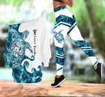 Load image into Gallery viewer, Sea Turtle  One Off Shoulder Long Sleeve Shirt & Legging 04