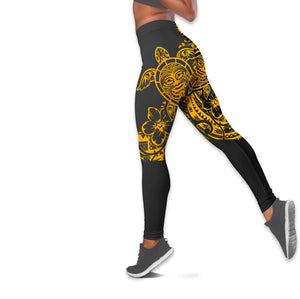 Polynesian Tattoo Sea Turtle Women Tank Top & Legging 06