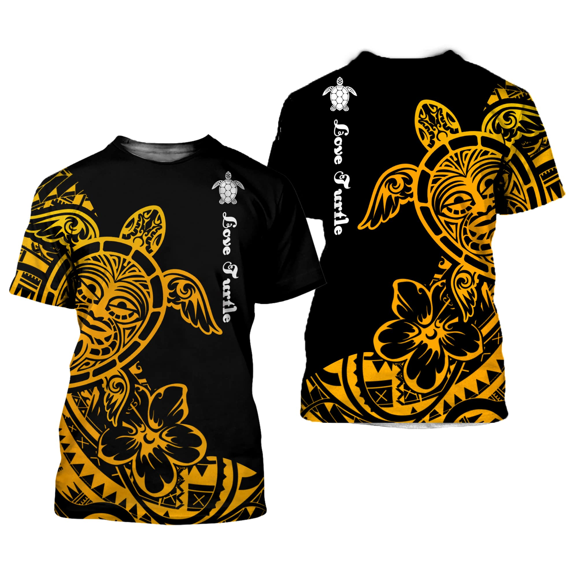 Polynesian Tattoo Sea Turtle 3D All Over Printed Shirts For Men And Women 06
