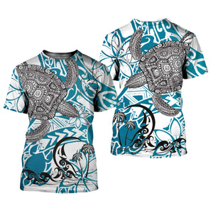 Sea Turtle 3D All Over Printed Shirts For Men And Women 11