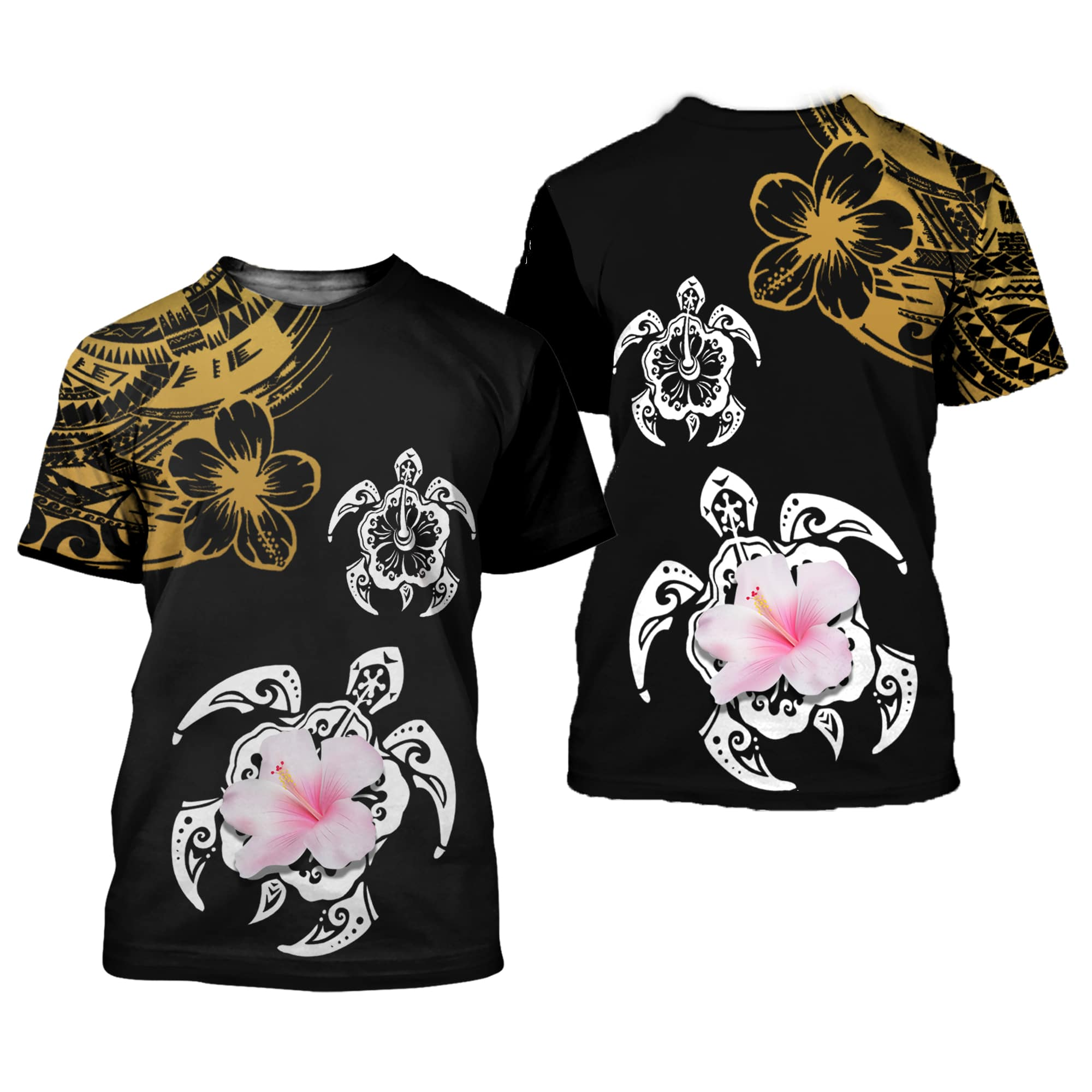 Amazing Polynesian Sea Turtle Tattoo 3D All Over Printed Shirts For Men And Women 13