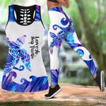 Load image into Gallery viewer, Amazing Sea Turtle Tattoo Women Tank Top & Leggings 15